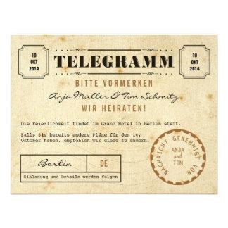 Vintage Telegramm Save the Date Custom Invitations