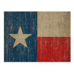 Vintage Texas-Flagge Postkarte