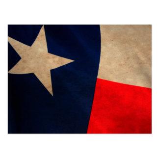Vintage Texas-Flaggen-Postkarte Postkarte