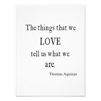 Vintage Thomas- von AquinLiebe-Inspirational Zitat