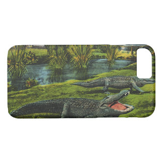Vintage Tiere, Marinelebens-Reptilien, Krokodile iPhone 8/7 Hülle