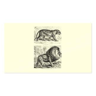 Vintage Tiger-Illustrations-Tiger-Schablone Visitenkarten