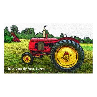 Vintage Traktor-Bauernhof-Versorgung oder Visitenkarten