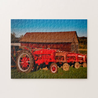 Vintage Traktoren Puzzle