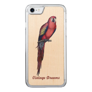 """Vintage Traum-"" - Herr Macaw Carved iPhone 8/7 Hülle"