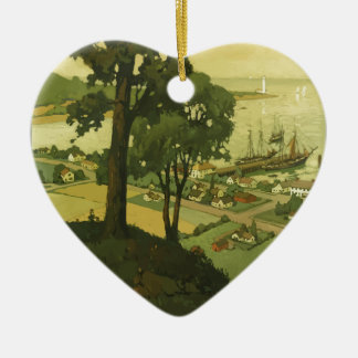 Vintage-Travel-Poster-New-England-USA-2 Keramik Ornament