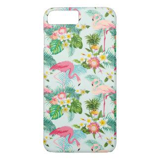 Vintage tropische Blumen und Vögel iPhone 8 Plus/7 Plus Hülle