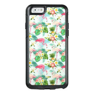 Vintage tropische Blumen und Vögel OtterBox iPhone 6/6s Hülle