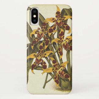 Vintage tropische Odontoglossum Orchideen-Blumen iPhone X Hülle