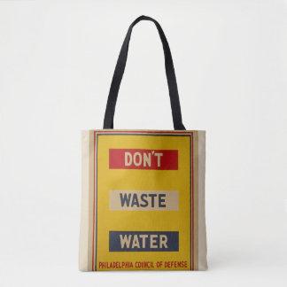 """Vintage """"tun nicht Abwasser-"""" Tasche"""