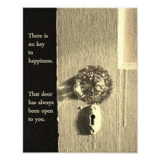 Vintage Tür zum Glück-Druck Fotodruck