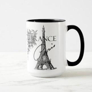 Vintage Turm-Kaffee-Tasse Paris Eiffel Tasse