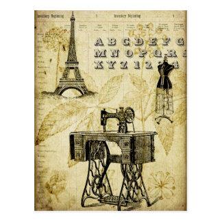 Vintage Turm-Kleiderform Postkarte PARIS Eiffel
