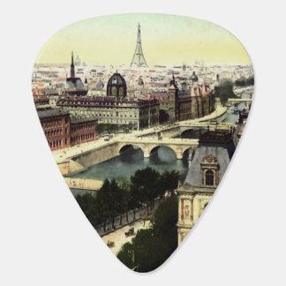 Vintage Turm-Szene Paris Eiffel Plektrum