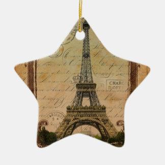 Vintage Turm-Wirbelsmustermode Paris Eiffel Keramik Ornament