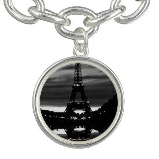 Vintage Turmreflexion 1970 Frankreichs Paris Charm Armbänder