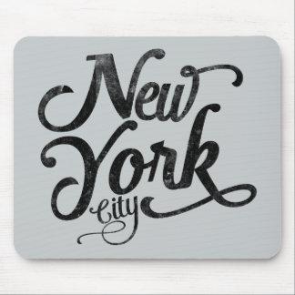 Vintage Typografie New York City Mousepad