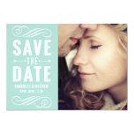 Vintage Typografie-Save the Date Mitteilung Einladungen
