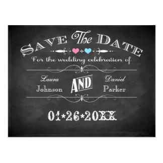 Vintage Typografie-Tafel-Save the Date Karte