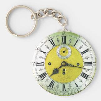Vintage Uhr-Antiken-Taschen-Uhr Schlüsselanhänger