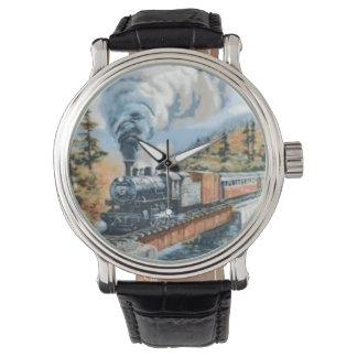 Vintage Uhr der Steamlocomotive Überfahrtbrücke