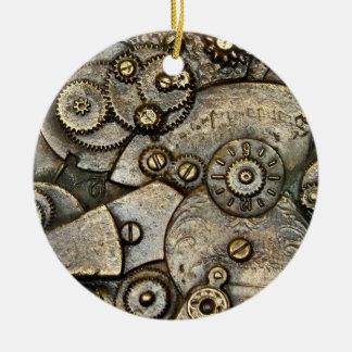 Vintage Uhr-Gang-Mechanismus-runde Verzierung Rundes Keramik Ornament