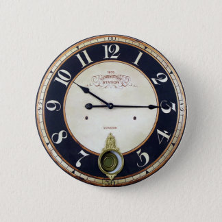 Vintage Uhr-Uhr Runder Button 5,1 Cm