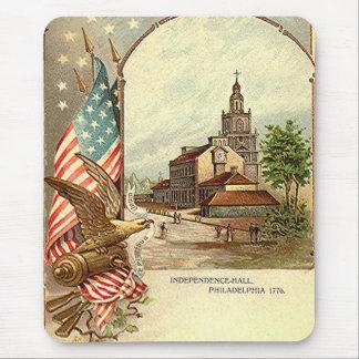 Vintage Unabhängigkeit Hall Mousepad