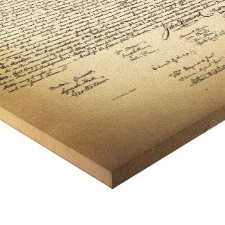 Vintage Unabhängigkeitserklärung Leinwanddruck