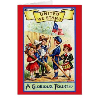 Vintage Unabhängigkeitstag-Gruß-Karte Karte