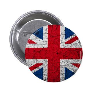 vintage Union Jack Button / Pin / Anstecker