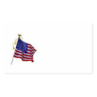 Vintage US-Flagge in der Visitenkarten