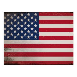 Vintage USA-Flagge Postkarte