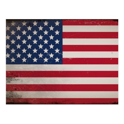 Vintage USA-Flagge Postkarten