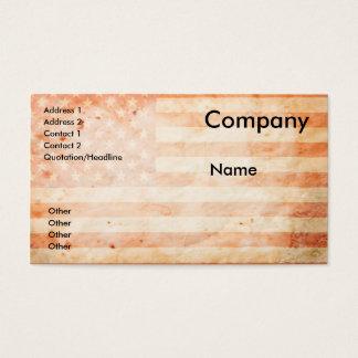 Vintage USA-Flagge Visitenkarten
