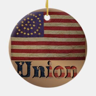Vintage USA-Gewerkschafts-Flagge Keramik Ornament