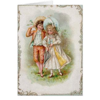 Vintage Valentine-Gruß-Karte Karte