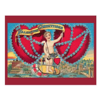 Vintage Valentine-Grüße Postkarte
