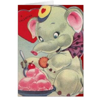 Vintage Valentine-Karte für Kinder Karte