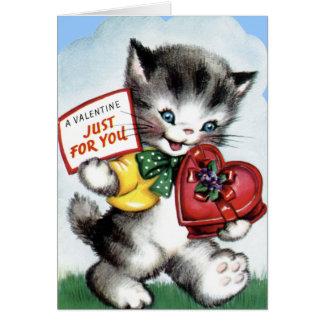 Vintage Valentine-Karte für Kinder! Karte
