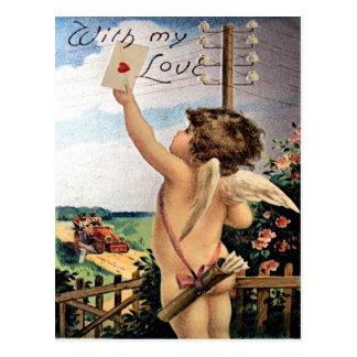 Vintage Valentine-Postkarte Postkarte
