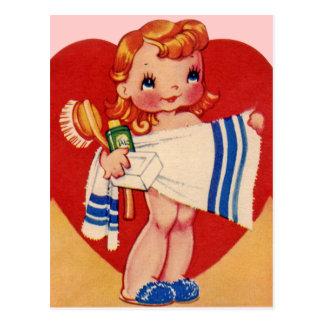 Vintage Valentine-Postkarten Postkarte