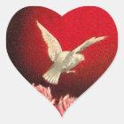 Vintage Valentine-Tauben-Aufkleber Herz-Aufkleber