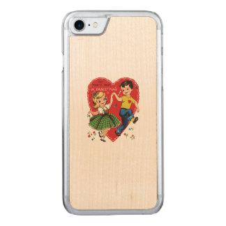 Vintage Valentinekinder Carved iPhone 8/7 Hülle