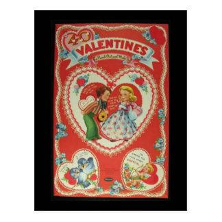 Vintage Valentines Postkarte