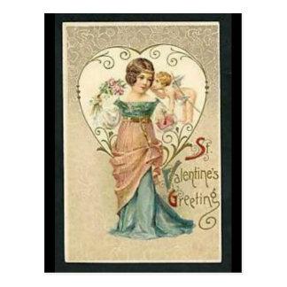 Vintage Valentines Postkarten