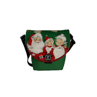 Vintage Vater-Weihnachtsgraphik Kurier Taschen