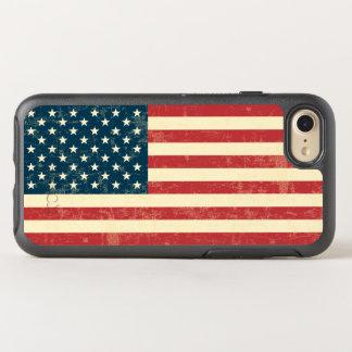 Vintage verblaßte amerikanische Flagge USA OtterBox Symmetry iPhone 8/7 Hülle