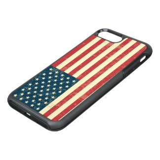 Vintage verblaßte amerikanische Flagge USA OtterBox Symmetry iPhone 8 Plus/7 Plus Hülle