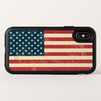 Vintage verblaßte amerikanische Flagge USA OtterBox Symmetry iPhone X Hülle